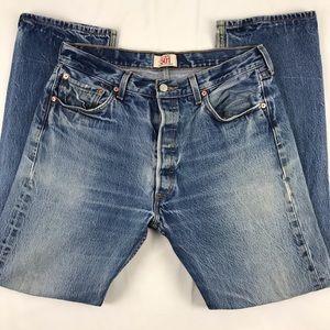 Levi's 501 Original Straight Leg Button Fly Jeans
